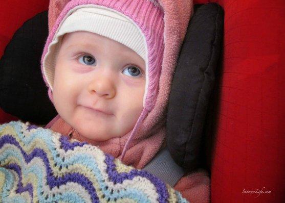 smiling beautiful cute baby girl