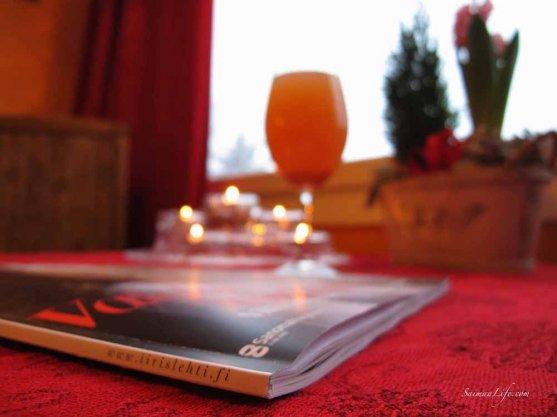 women's magazine on the table