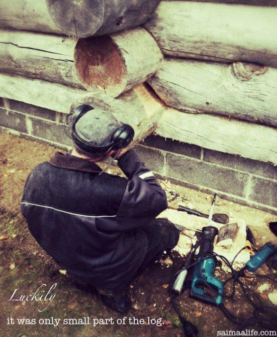 fixing-log-in-log-cottage