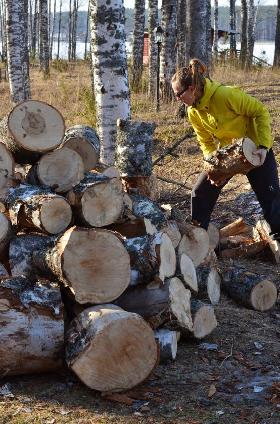 woman-working-for-firewood