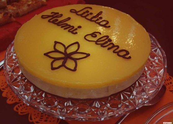 mango orange cake for celebration
