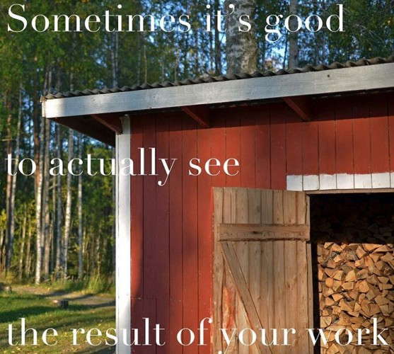 Love the sentence Its ready!! firewood greatjob health wellbeing happinesshellip