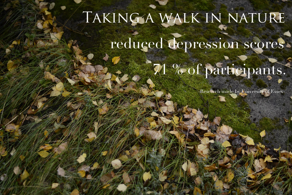 walking in nature reduces stress