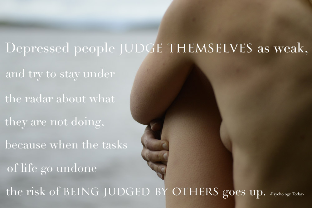 depressed people judge themselves