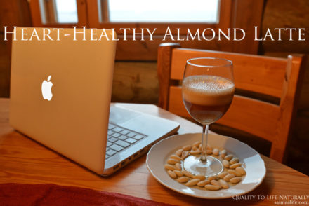 Recipe For Heart-Healthy Almond Latte (+Tip How To Turn It Into Vanilla Dessert)