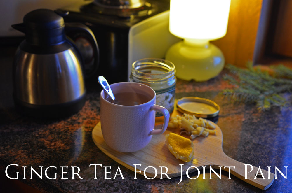 recipe for ginger tea to relieve joint pain
