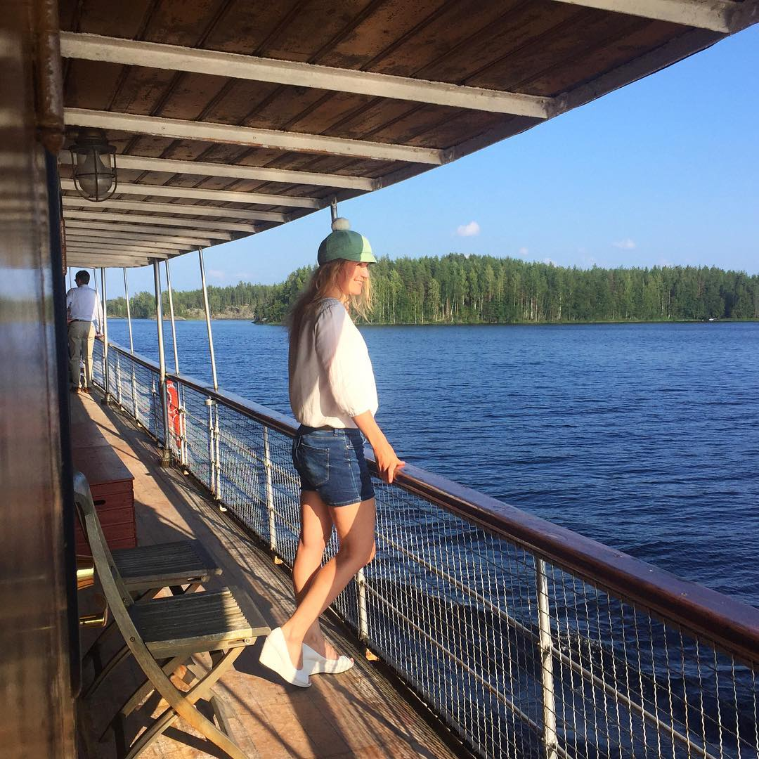 Three beautiful words Warm Summer Wind lakecruise saimaamoments thisisfinland qualitytolifenaturally