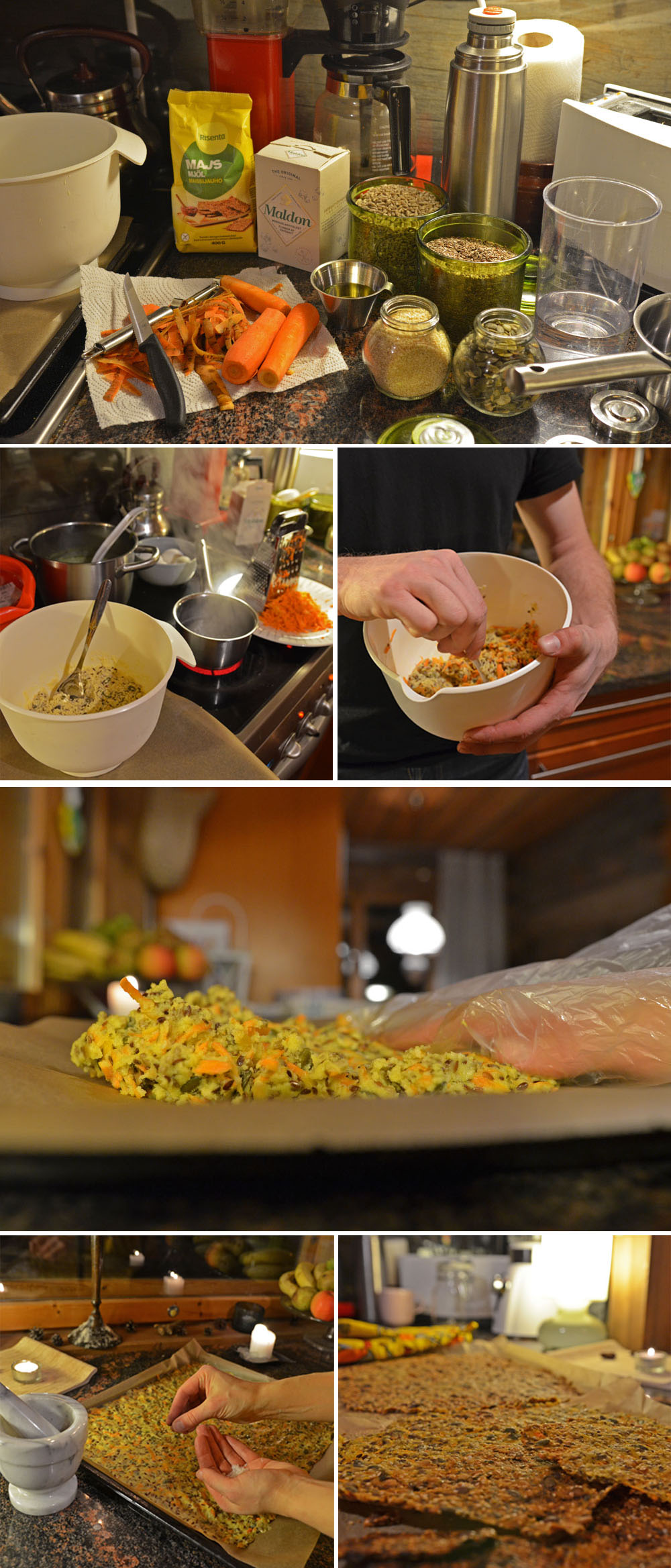 Seed-Carrot Crispbread Ingredients and How-To