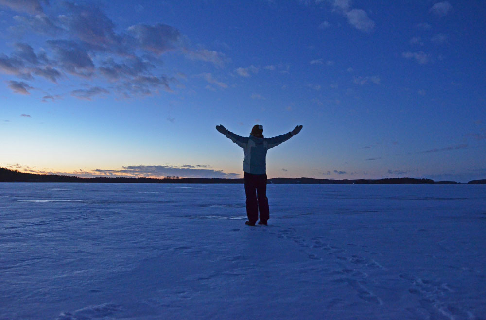 Winter sunset in Saimaa, Finland - SaimaaLife.com
