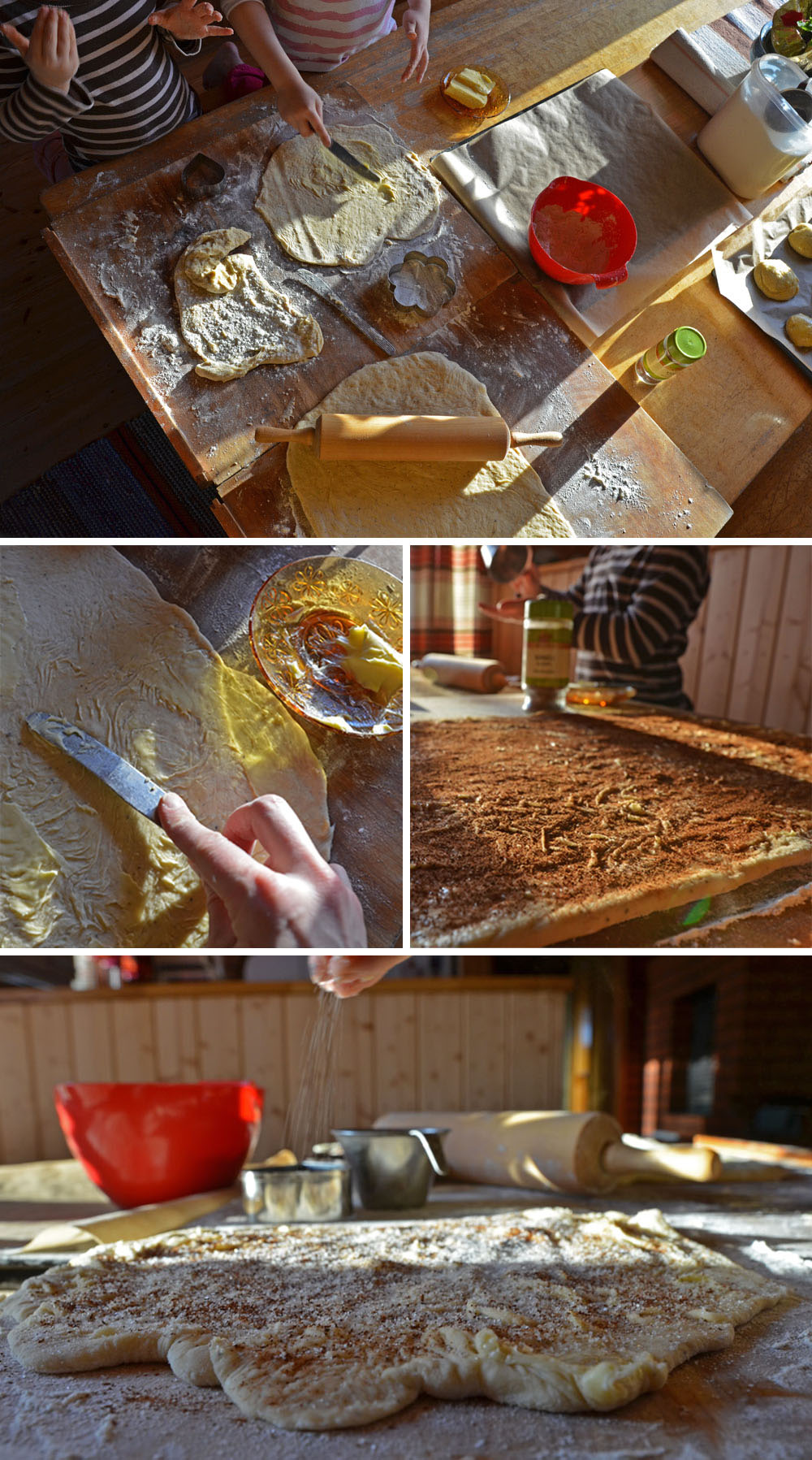 How to make cinnamon rolls - Preparing the filling - SaimaaLife.com