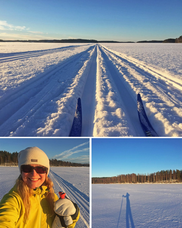 Cross-country skiing in Saimaa, Finland