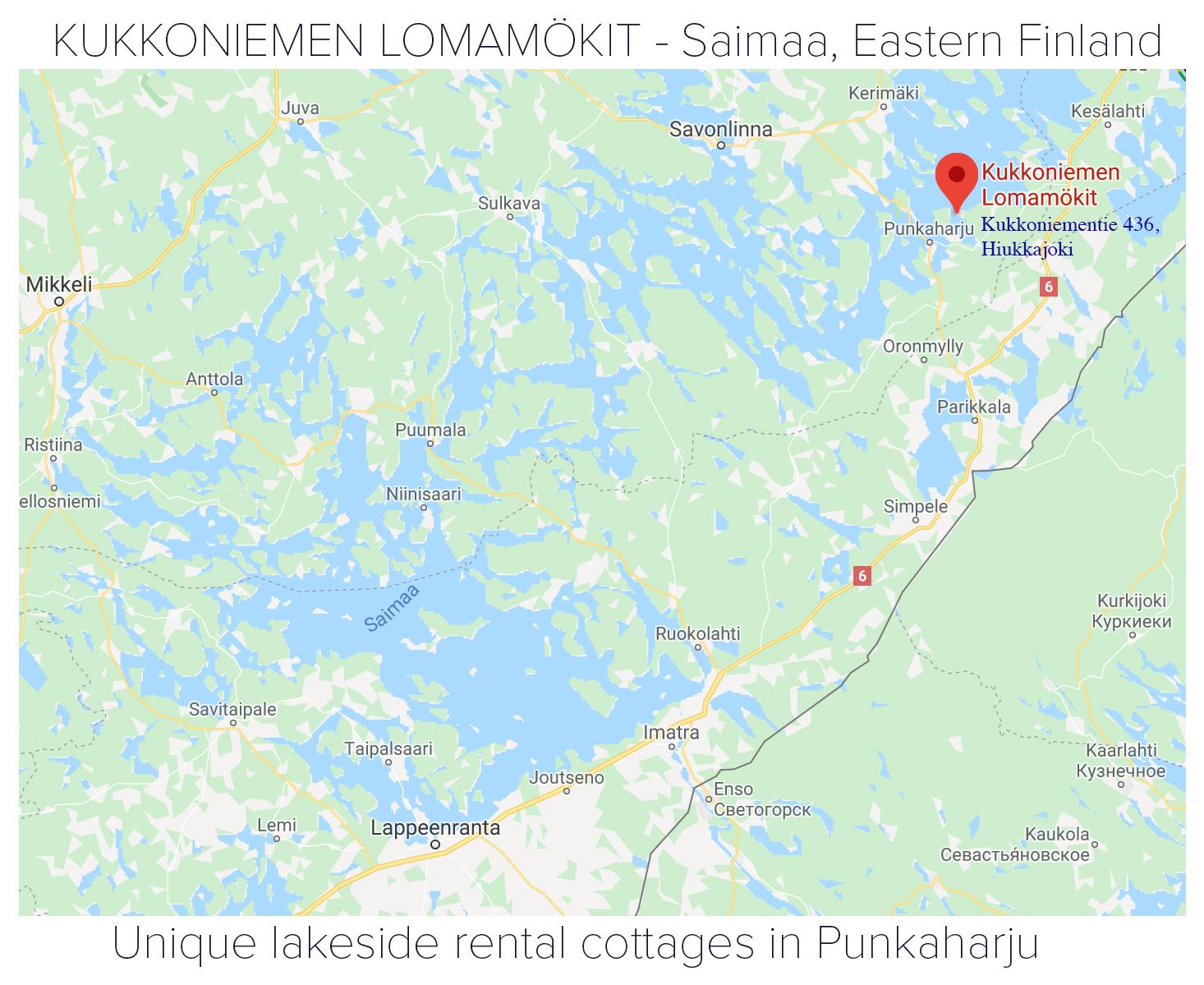 Kukkoniemen Lomamökit rental cottages in Punkaharju, Saimaa, Finland