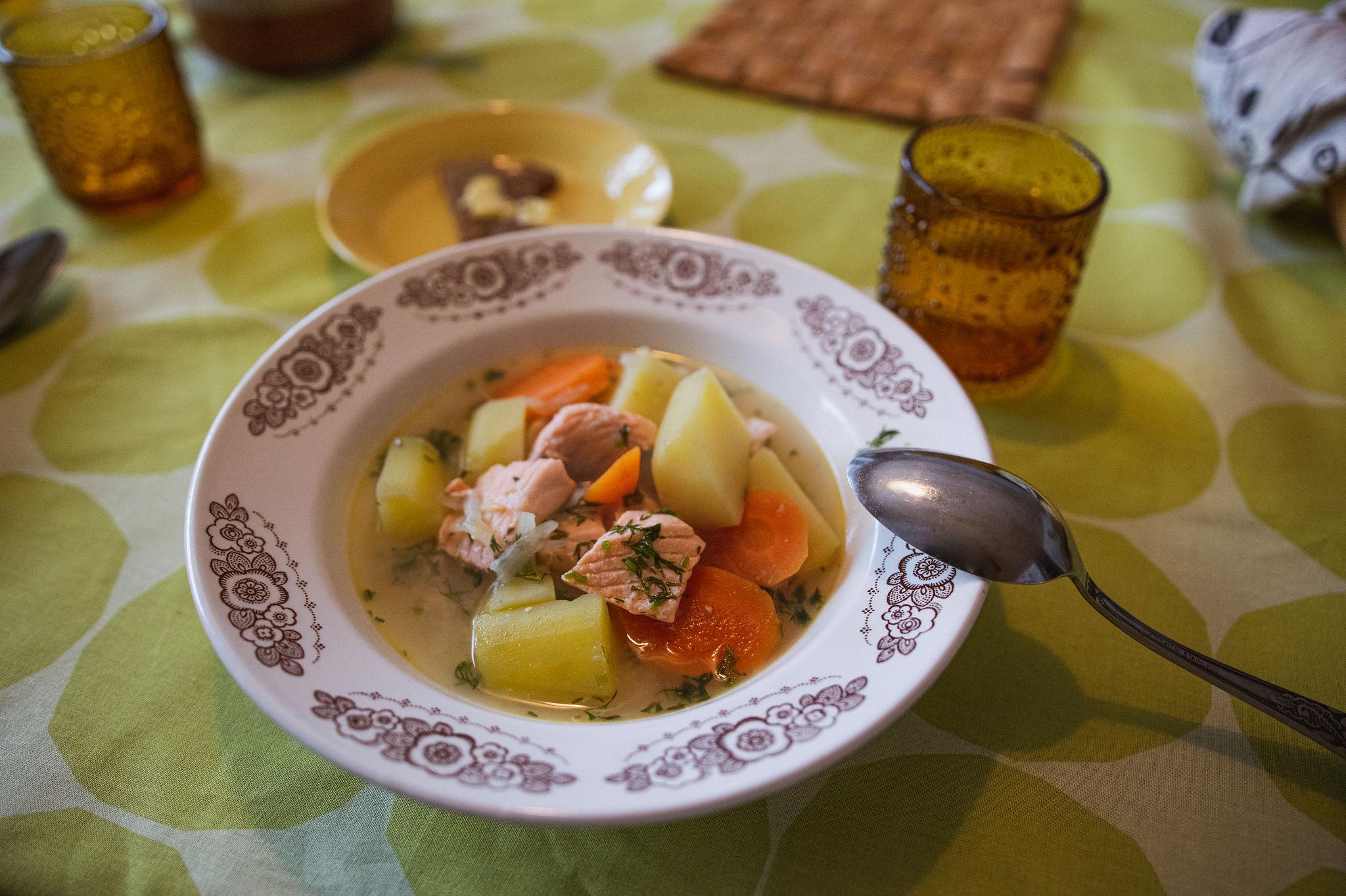 Paula's traditional salmon soup