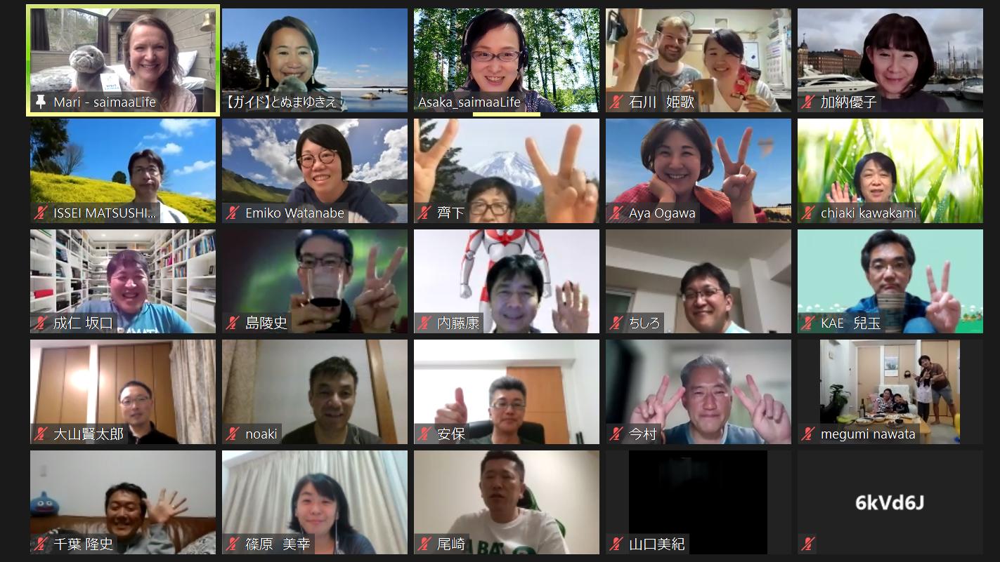 Participants of Saimaa spring virtual tour by saimaaLife and eco-conscious Japan