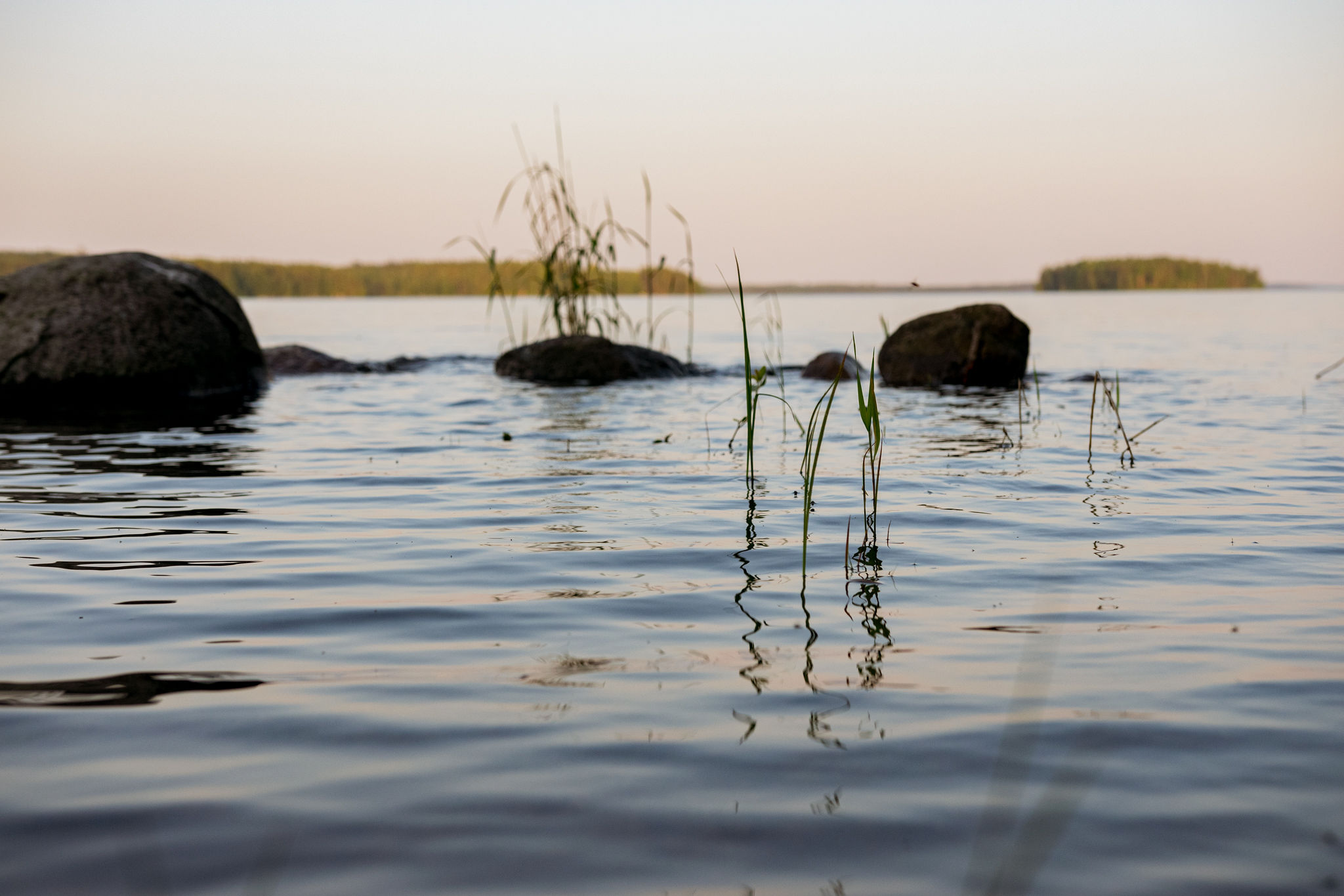 calm summer night in saimaa and finnish lakeland