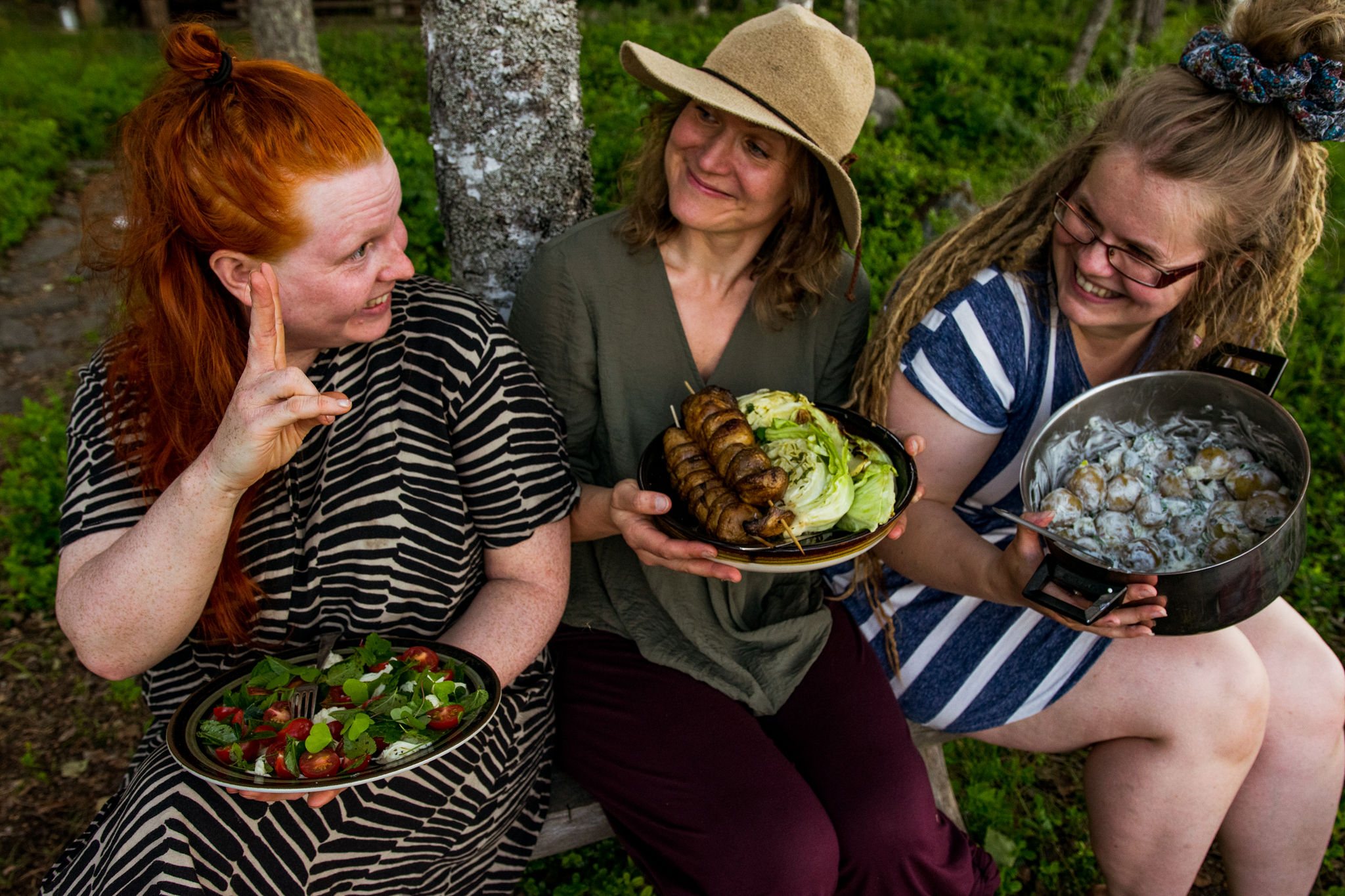 saimaalife ladies' summer recipe for grilled cabbage