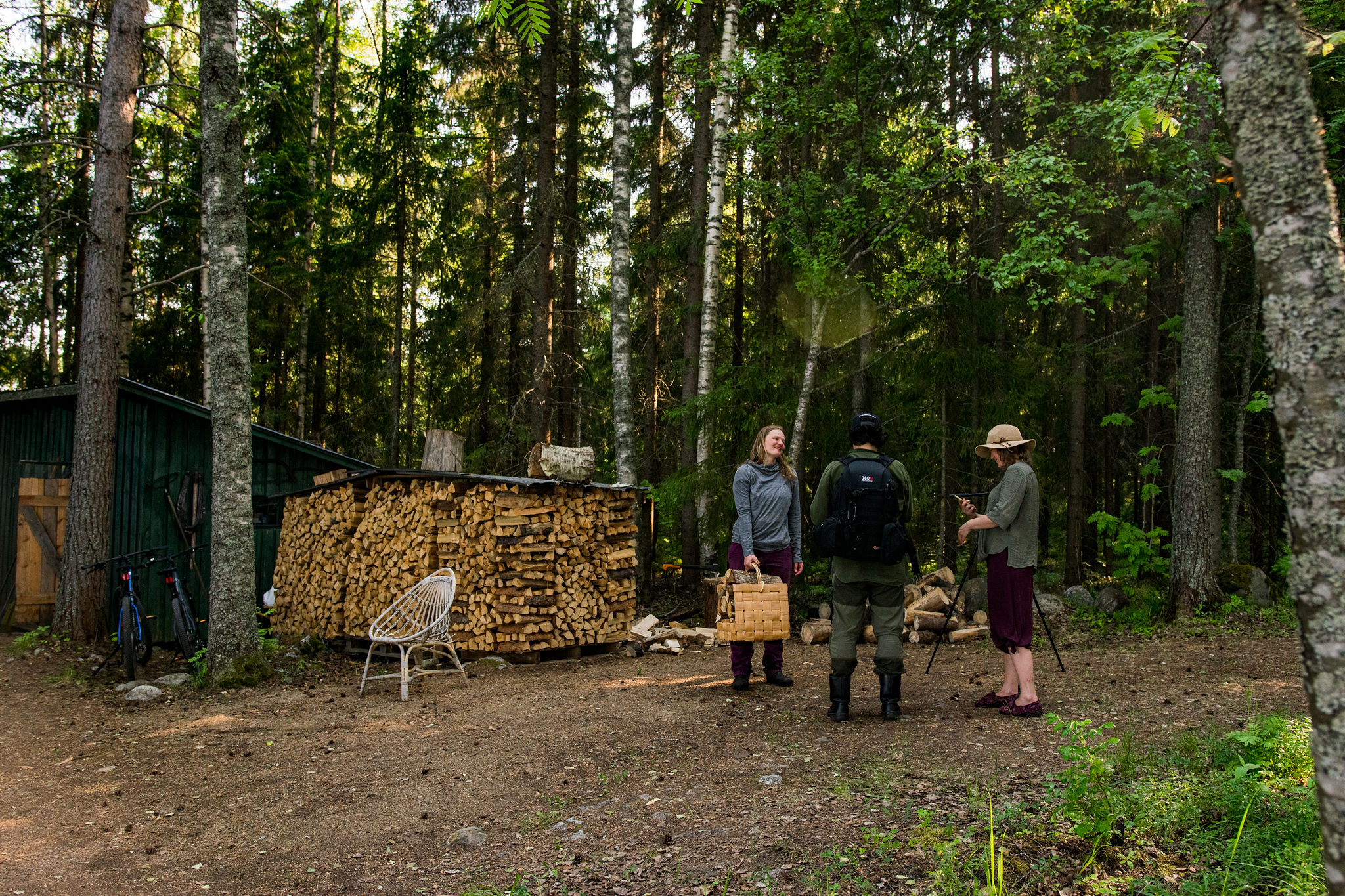 friends at finnish summer cottage in saimaa