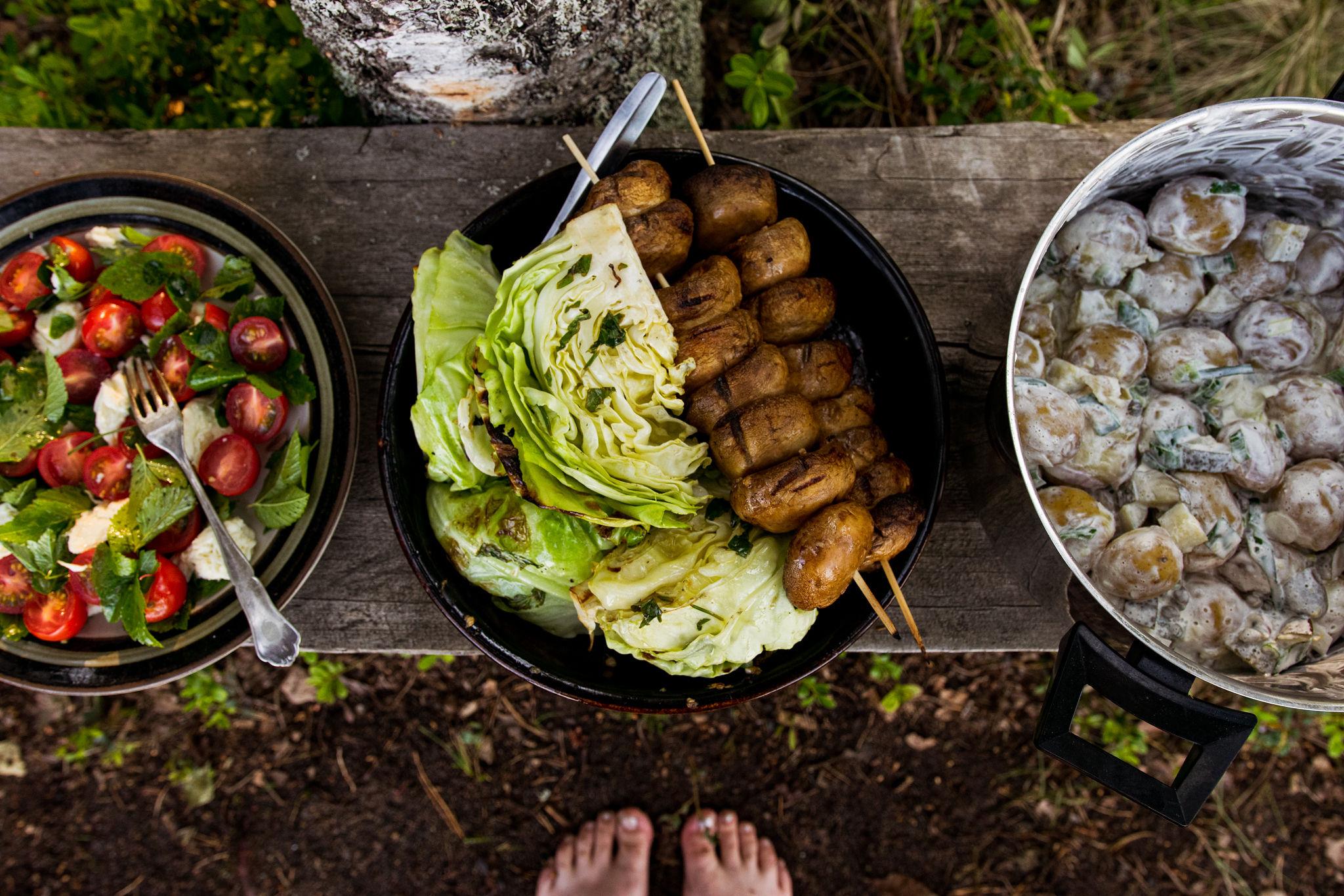 Grilled summer food